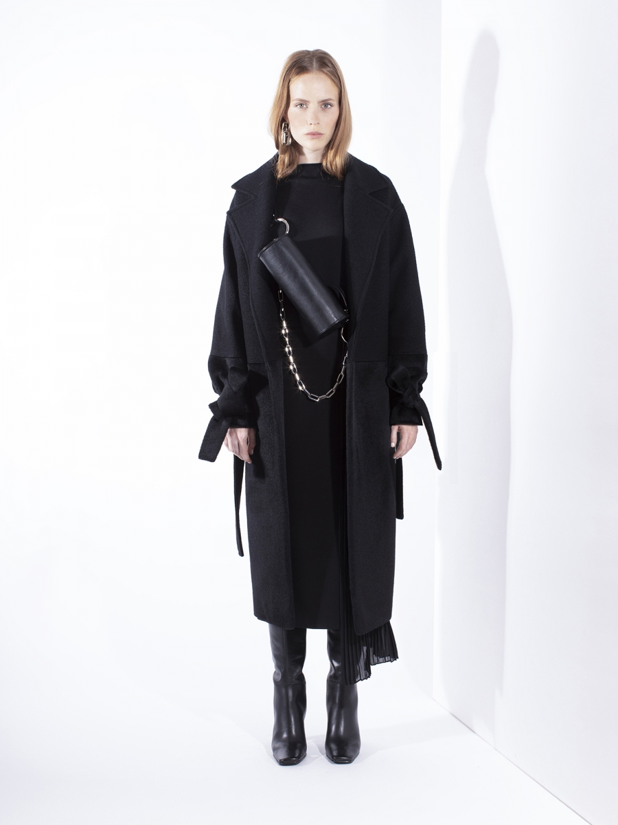 solum woolen coat with cashmere